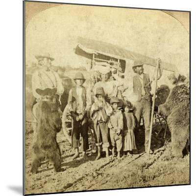 Gypsies and Dancing Bears on the Road-Underwood & Underwood-Mounted Photographic Print