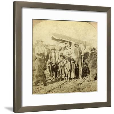 Gypsies and Dancing Bears on the Road-Underwood & Underwood-Framed Photographic Print