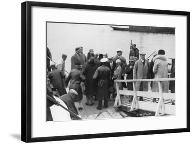 Passenger Ship Bethed at Molde, Norway, 1929--Framed Photographic Print