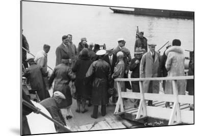Passenger Ship Bethed at Molde, Norway, 1929--Mounted Photographic Print