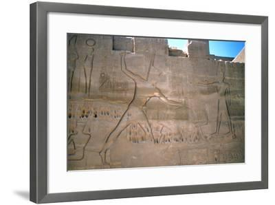 Pharaoh Seti, Capture of Slaves, Luxor, Egypt--Framed Photographic Print