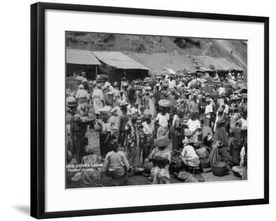 Market Scene, Sierra Leone, 20th Century--Framed Photographic Print