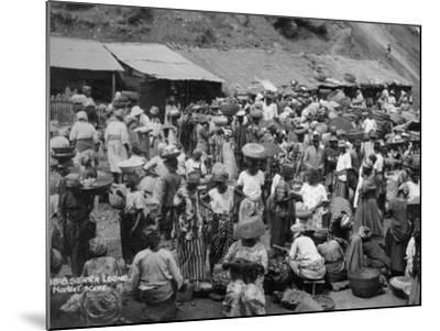 Market Scene, Sierra Leone, 20th Century--Mounted Photographic Print