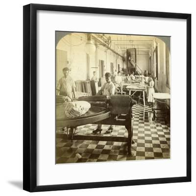 Packing Prize Butter for the European Markets, Hasley, Denmark-Underwood & Underwood-Framed Photographic Print