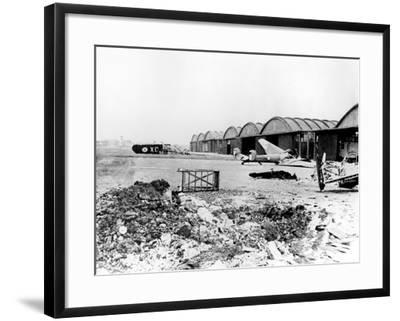 Destroyed Aircraft at Le Bourget Airfield, German-Occupied Paris, July 1940--Framed Photographic Print