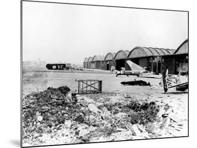 Destroyed Aircraft at Le Bourget Airfield, German-Occupied Paris, July 1940--Mounted Photographic Print
