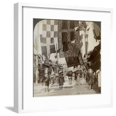 Dotombori, or Theatre Street, Osaka, Japan, 1904-Underwood & Underwood-Framed Photographic Print