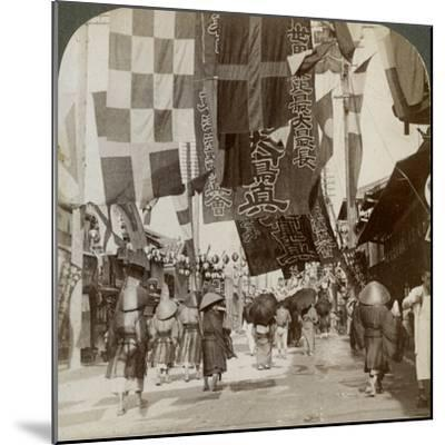 Dotombori, or Theatre Street, Osaka, Japan, 1904-Underwood & Underwood-Mounted Photographic Print