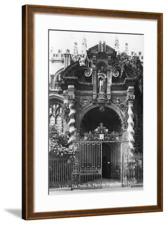 The Porch of St Mary the Virgin Church, Oxford, Oxfordshire, Early 20th Century--Framed Photographic Print