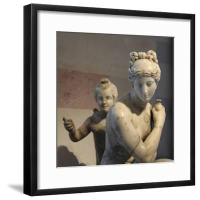 Statue of Bathing Aphrodite and Eros--Framed Photographic Print