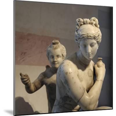 Statue of Bathing Aphrodite and Eros--Mounted Photographic Print