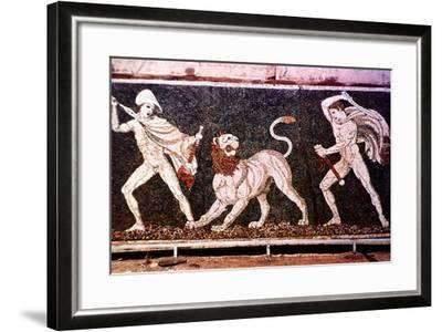 The Lion Hunt, 4th Century Bc--Framed Photographic Print