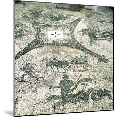 Mosaic, Carts Pulled by Mules with Travellers, Cisarii. C1st Century--Mounted Photographic Print