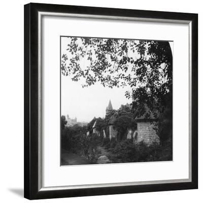 Stadtgraben, Bavaria, Germany, C1900s-Wurthle & Sons-Framed Photographic Print