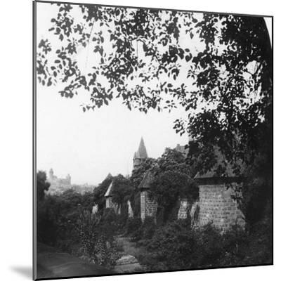 Stadtgraben, Bavaria, Germany, C1900s-Wurthle & Sons-Mounted Photographic Print