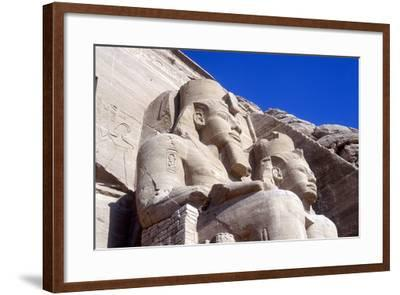 Statues of Rameses II, in Front of the Main Temple, Abu Simbel, Egypt, Early 13th Century Bc--Framed Photographic Print
