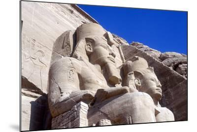 Statues of Rameses II, in Front of the Main Temple, Abu Simbel, Egypt, Early 13th Century Bc--Mounted Photographic Print