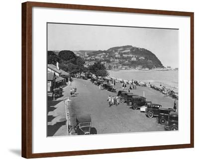 Seaside Resort of Minehead, Somerset, Early 1930s--Framed Photographic Print