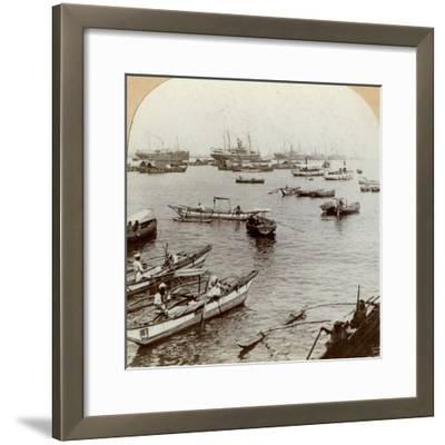 Colombo Harbour, Ceylon (Sri Lank)--Framed Photographic Print