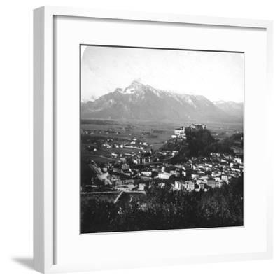 The Kapuzinerberg, Salzburg, Austria, C1900-Wurthle & Sons-Framed Photographic Print