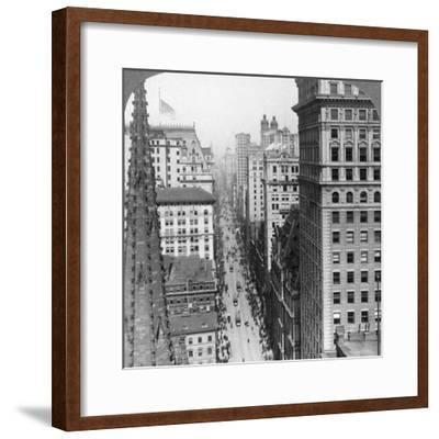 From the Empire Building Past Trinity Church Up Broadway, 1902-Underwood & Underwood-Framed Photographic Print