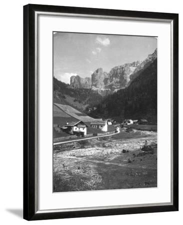 A Valley in Wolkenstein, Tyrol, C1900s-Wurthle & Sons-Framed Photographic Print