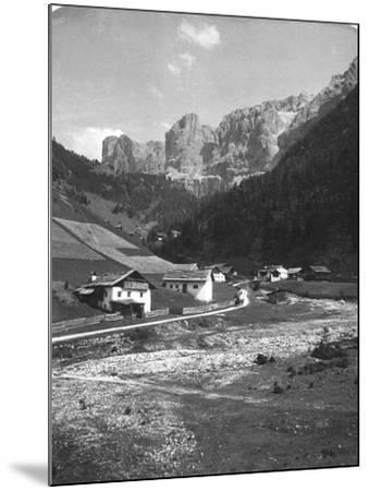 A Valley in Wolkenstein, Tyrol, C1900s-Wurthle & Sons-Mounted Photographic Print
