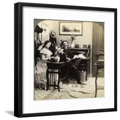 Flirtation-Underwood & Underwood-Framed Photographic Print