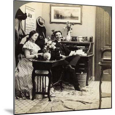 Flirtation-Underwood & Underwood-Mounted Photographic Print
