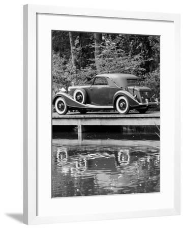 A 1933 Hispano-Suiza K6 Reflected in a Lake--Framed Photographic Print