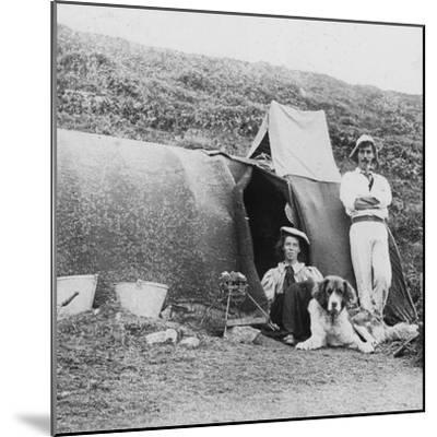 Camping, Early 20th Century--Mounted Photographic Print
