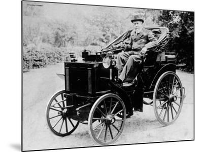 Evelyn Ellis Driving an 1895 Panhard, (1895)--Mounted Photographic Print