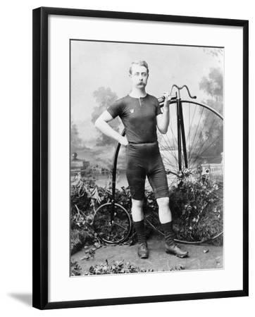 Ralph Clifton with a Penny Farthing, C1895--Framed Photographic Print