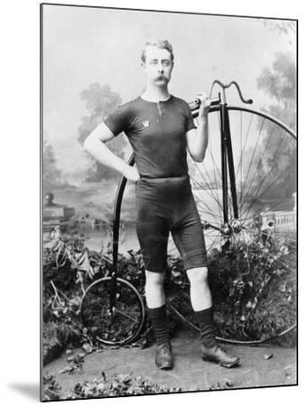 Ralph Clifton with a Penny Farthing, C1895--Mounted Photographic Print
