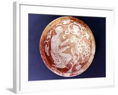 Egyptian Ceramic Bowl, C11th Century--Framed Photographic Print