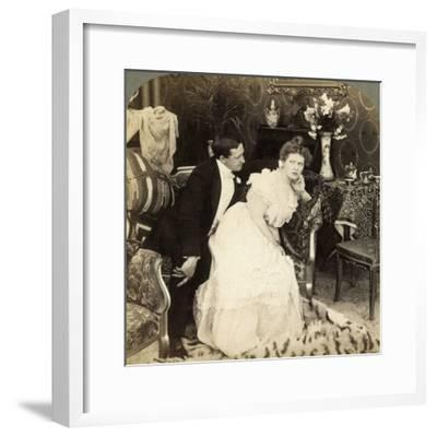When a Man Comes Too Near He Goes Too Far-Underwood & Underwood-Framed Photographic Print
