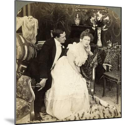 When a Man Comes Too Near He Goes Too Far-Underwood & Underwood-Mounted Photographic Print
