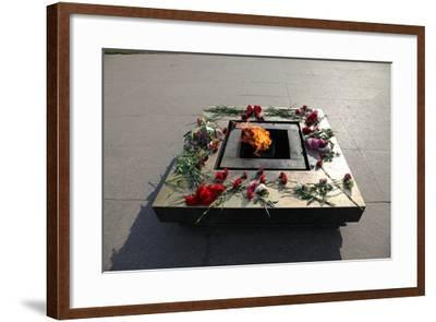 Eternal Flame in the Field of Mars, St Petersburg, Russia, 2011-Sheldon Marshall-Framed Photographic Print