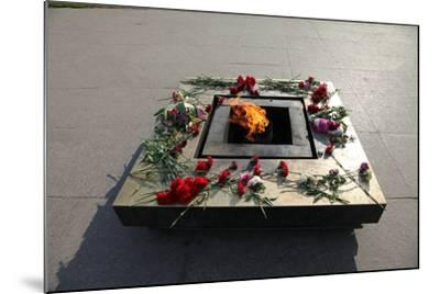 Eternal Flame in the Field of Mars, St Petersburg, Russia, 2011-Sheldon Marshall-Mounted Photographic Print