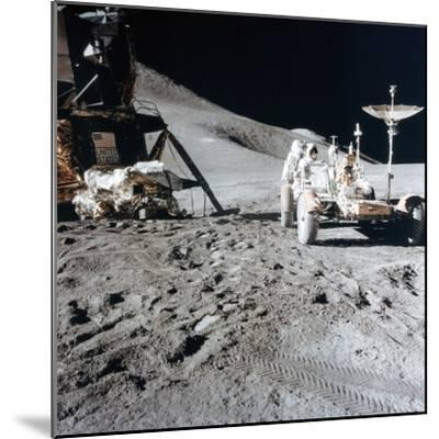 James Irwin (1930-199) with the Lunar Roving Vehicle During Apollo 15, 1971--Mounted Photographic Print