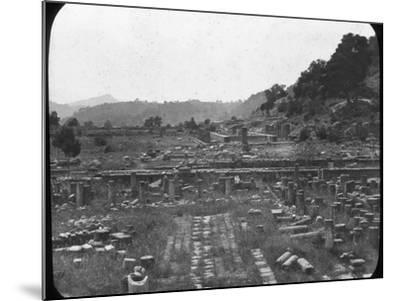 Mount Kronos and Temple of Hera, Olympia, Greece, Late 19th or Early 20th Century--Mounted Photographic Print
