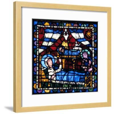 The Nativity, Stained Glass, Chartres Cathedral, France, 1194-1260--Framed Photographic Print