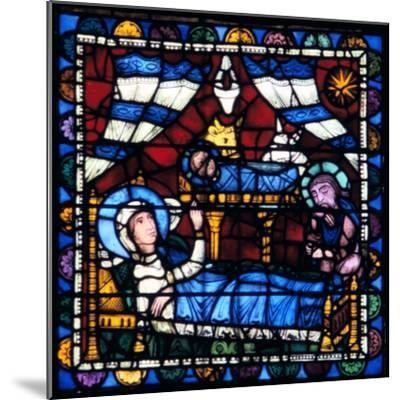 The Nativity, Stained Glass, Chartres Cathedral, France, 1194-1260--Mounted Photographic Print