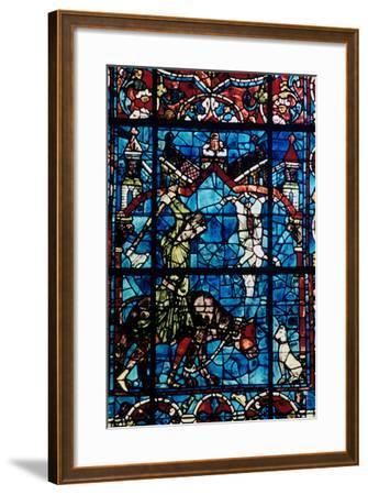 The Butchers, Stained Glass, Chartres Cathedral, France, 1194-1260--Framed Photographic Print