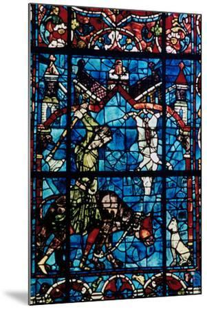 The Butchers, Stained Glass, Chartres Cathedral, France, 1194-1260--Mounted Photographic Print