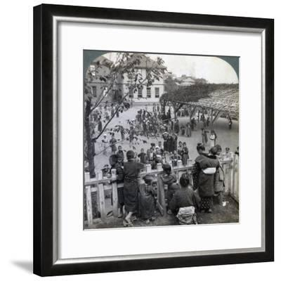 Schoolhouse and Grounds, Yokohama, Japan, 1904-Underwood & Underwood-Framed Photographic Print