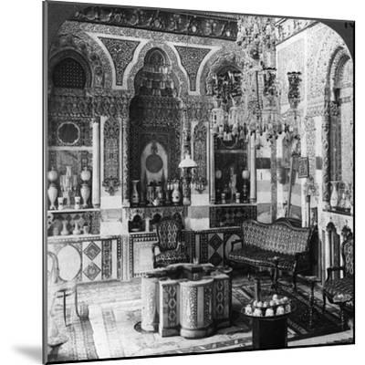 The Reception Room of a Pasha, Damascus, Syria, 1905-Underwood & Underwood-Mounted Photographic Print