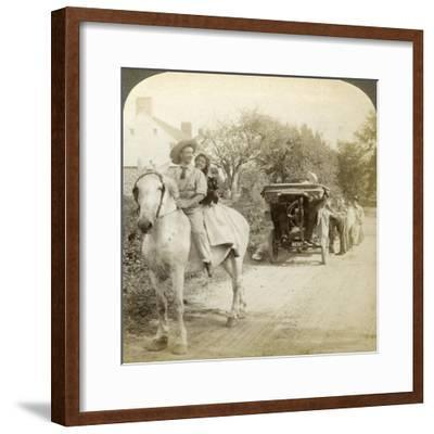 The Old Time Sparking Plug Is the Best after All-Underwood & Underwood-Framed Photographic Print