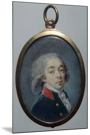 Portrait of Count Ivan Apraxin, C. 1796-Augustin Christian Ritt-Mounted Photographic Print