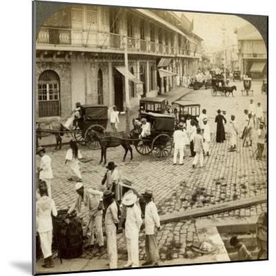 Rosario Road and Binondo Church, Manila, Philippines-Underwood & Underwood-Mounted Photographic Print